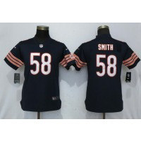 Nike Bears 58 Roquan Smith Navy Vapor Untouchable Limited Women Jersey