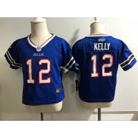 Nike Bills 12 Jim Kelly Royal NFL Toddler Jersey