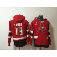 Nike Buccaneers 13 Mike Evans Red Pullover Hoodie