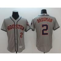 MLB Astros 2 Alex Bregman Grey New Flexbase Men Jersey