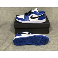 Air Jordan 1 Low Blue Black Shoes