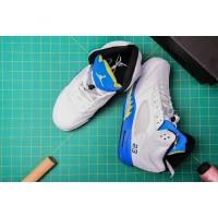 Air Jordan 5 White Royal Shoes