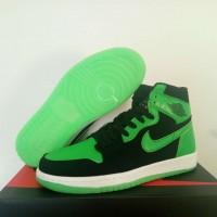 Air Jordan 1 Mid Black Green Shoes