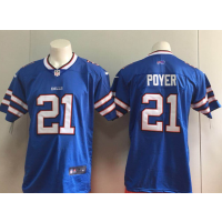 Nike Bills 21 Jordan Poyer Royal Vapor Untouchable Limited Men Jersey