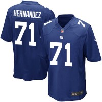 Nike NFL New York Giants 71 Will Hernandez Royal Blue Youth Jersey