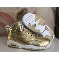Air Jordan 6 Gold White Shoes