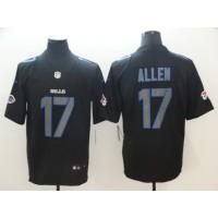 Nike Bills 17 Josh Allen Black Vapor Impact Limited Men Jersey