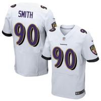 Nike Ravens 90 Za'Darius Smith White Elite Men Jersey