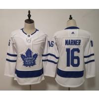NHL Maple Leafs 16 Mitchell Marner White Women Adidas Jersey