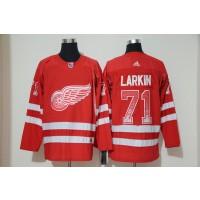 NHL Red Wings 71 Dylan Larkin Red Drift Fashion Adidas Men Jersey