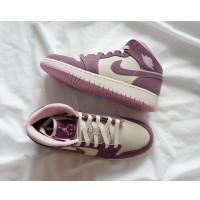Air Jordan 1 Retro Pink And Purple Low Shoes