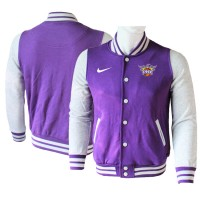 NBA Phoenix Suns Blank Purple Grey Nike Wool Jacket