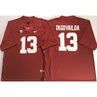 NCAA Alabama Crimson Tide 13 Tua Tagovailoa Red Legend Limited Men Jersey