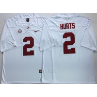 NCAA Alabama Crimson Tide 2 Jalen Hurts White Legend Limited Men Jersey