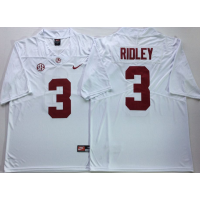 NCAA Alabama Crimson Tide 3 Calvin Ridley White Legend Limited Men Jersey