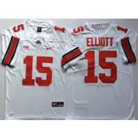 NCAA Ohio State Buckeyes 15 Ezekiel Elliott White Legend Limited Men Jersey