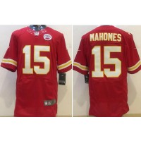 Nike Kansas City Chiefs 15 Patrick Mahomes II 2017 NFL Draft Red Elite Jersey