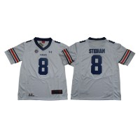 NCAA Auburn Tigers 8 Jarrett Stidham White College Football Men Jersey