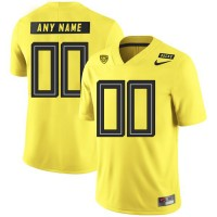 NCAA Oregon Ducks Yellow Men's Customized Nike College Football Men Jersey