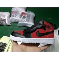 Air Jordan 1 Red Black Kids Shoes