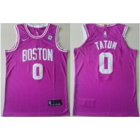 NBA Celtics 0 Jayson Tatum Purple Nike Men Jersey