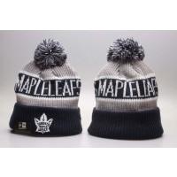NHL Maple Leafs Team Pride Blue Knit Hat With Pom YP