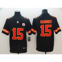 Nike Chiefs 15 Patrick Mahomes Black Vapor Untouchable Limited Youth Jersey