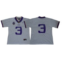 NCAA LSU Tigers 3 Odell Beckham Jr College Limited Football White Men Jersey With 125th Anniversary Patch