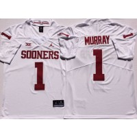 NCAA Oklahoma Sooners 1 Kyler Murray White College Football Men Jersey