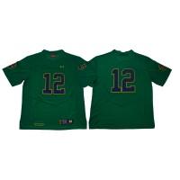 NCAA Notre Dame Fighting Irish 12 Green Under Armour College Football Men Jersey