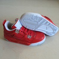 Air Jordan 4 Red White Women Shoes