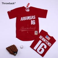 MLB Red Sox 16 Andrew Benintend Red Retro Throwback Men Jersey