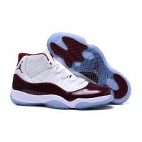 Air Jordan 11 White Wine Red High Shoes