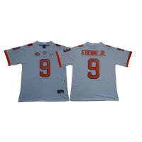 NCAA Clemson Tigers 9 Travis Etienne Jr. White Nike College Football Men Jersey