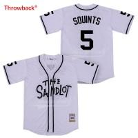 The Sandlot 5 SQUINTS Baseball Retro White Movie Jersey
