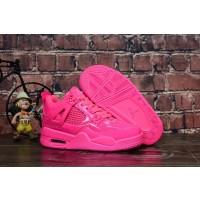 "Air Jordan 4 ""Pink Patent"" Kids Shoes"