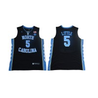 NCAA North Carolina 5  Nassir Little College Basketball Black Men Jersey