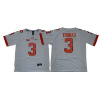 NCAA Clemson Tigers 3 Xavier Thomas White College Football Men Jersey