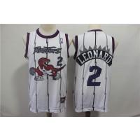 NBA Raptors 2 Kawhi Leonard White Hardwood Classics Men Jersey