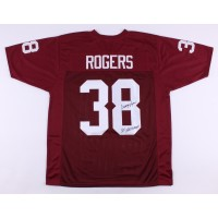 NCAA South Carolina Gamecocks 38 George Rogers Red Signed Throwback Men Jersey