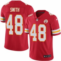 Nike Chiefs 48 Terrance Smith Red Vapor Untouchable Limited Men Jersey