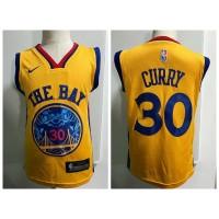NBA Warrior 30 Stephen Curry Yellow Nike Toddler Jersey