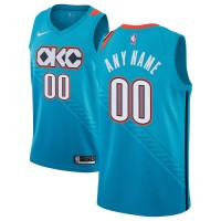 NBA Thunder Customized Light Blue 2018-19 City Edition Nike Men Jersey