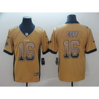 Nike Rams 16 Jared Goff Gold Drift Fashion Vapor Limited Men Jersey