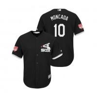 MLB White Sox 10 Yoan Moncada Black 2019 Spring Training Cool Base Men Jersey