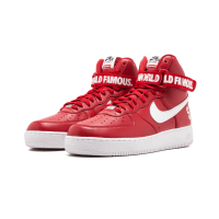 """Nike Air Force 1 High Supreme """"World Famous"""" Red Shoes"""