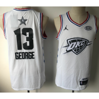 NBA Thunder 13 Paul George White 2019 All-Star Game Men Jersey
