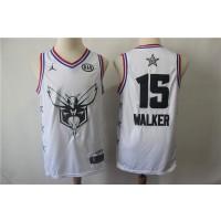 NBA Hornets 15 Kemba Walker White 2019 All-Star Game Men Jersey