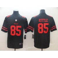 Nike 49ers 85 George Kittle Black Vapor Untouchable Limited Men Jersey