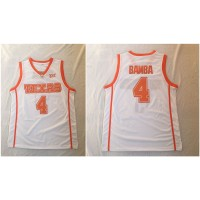 NCAA Texas Longhorns 4 Mohamed Bamba White Stitched College Basketball Men Jersey
